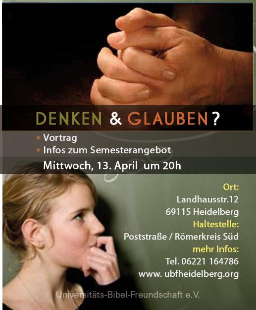 Vortrag und Infos zum Semesterangebot, Mittwoch 13.April 2011, 20 Uhr, Landhausstr. 12, Heidelberg