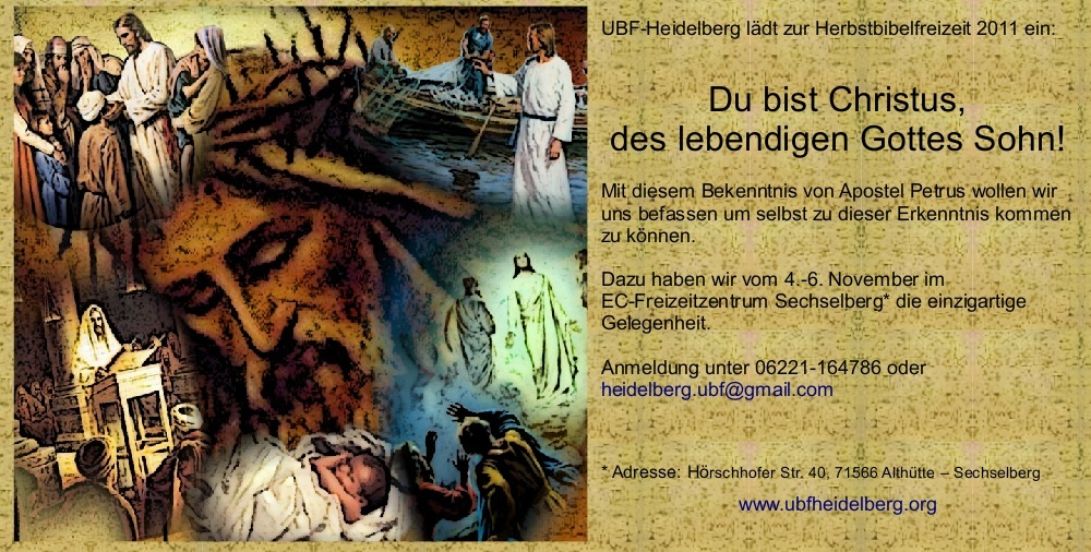 Einladung zur Herbstbibelfreizeit 2011