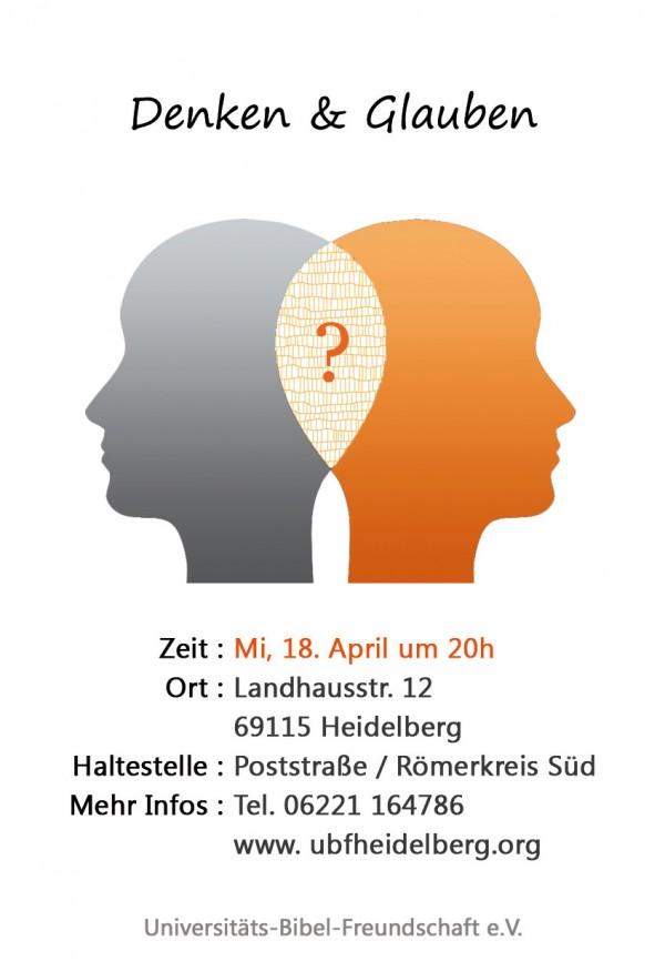 Denken & Glauben, ein Vortrag zum Vorlesungsbeginn SS 2012